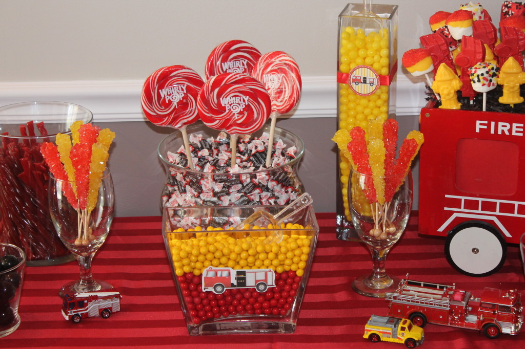 Firefighter 2nd Birthday Party Lollipops
