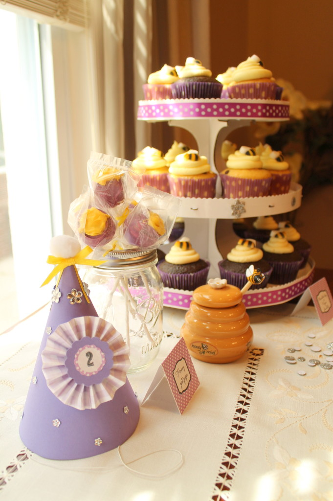 Winnie the Pooh Birthday Party Cupcake Tower
