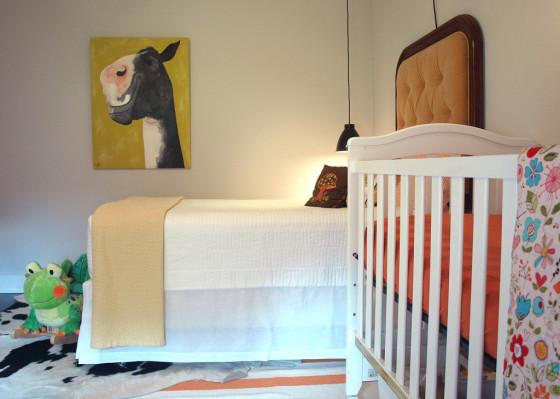 Vintage Modern Nursery Crib