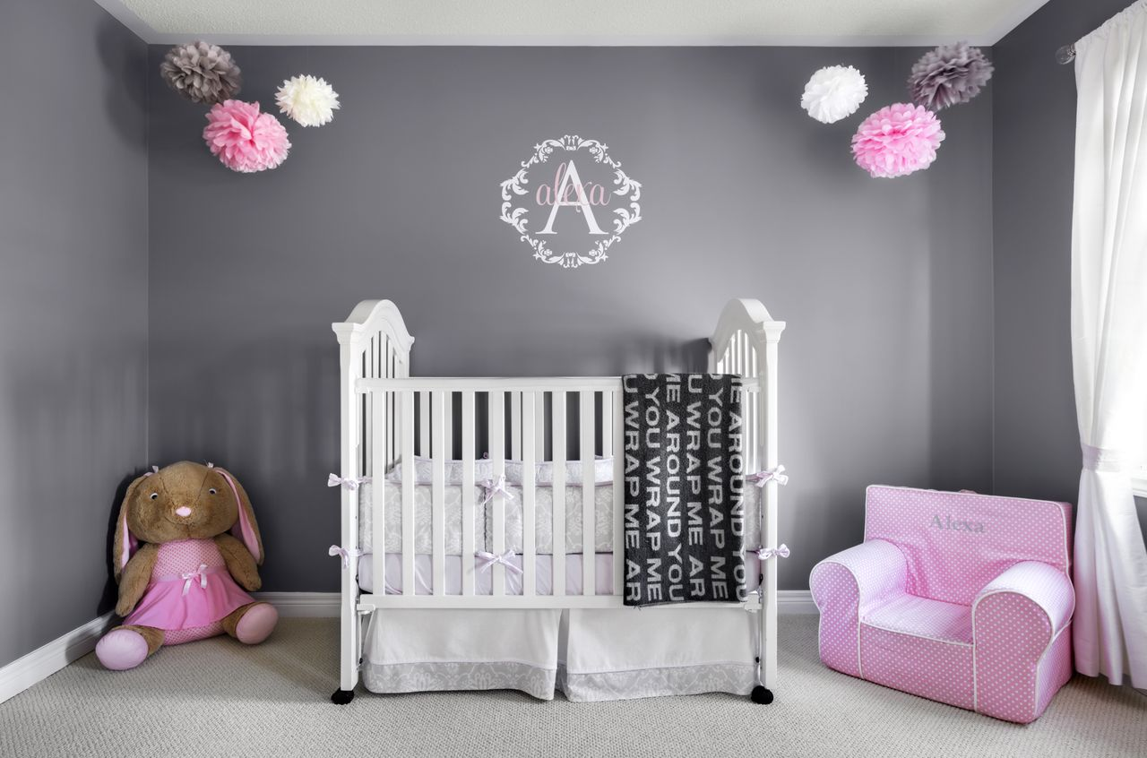 Alexa's Beautiful Pink And Grey Nursery