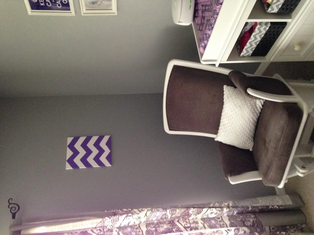 Purple Girl Nursery Crib and Changer