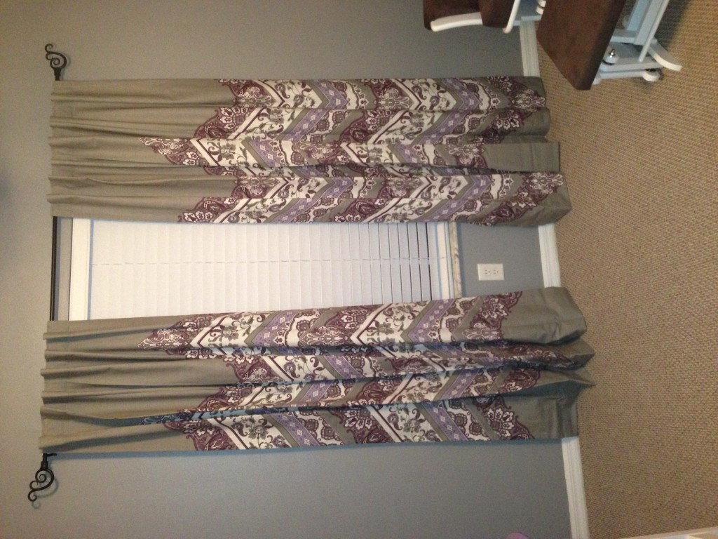 Gray and Purple Nursery Curtains