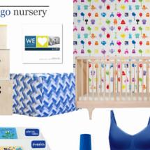 Indigo Nursery Design Board