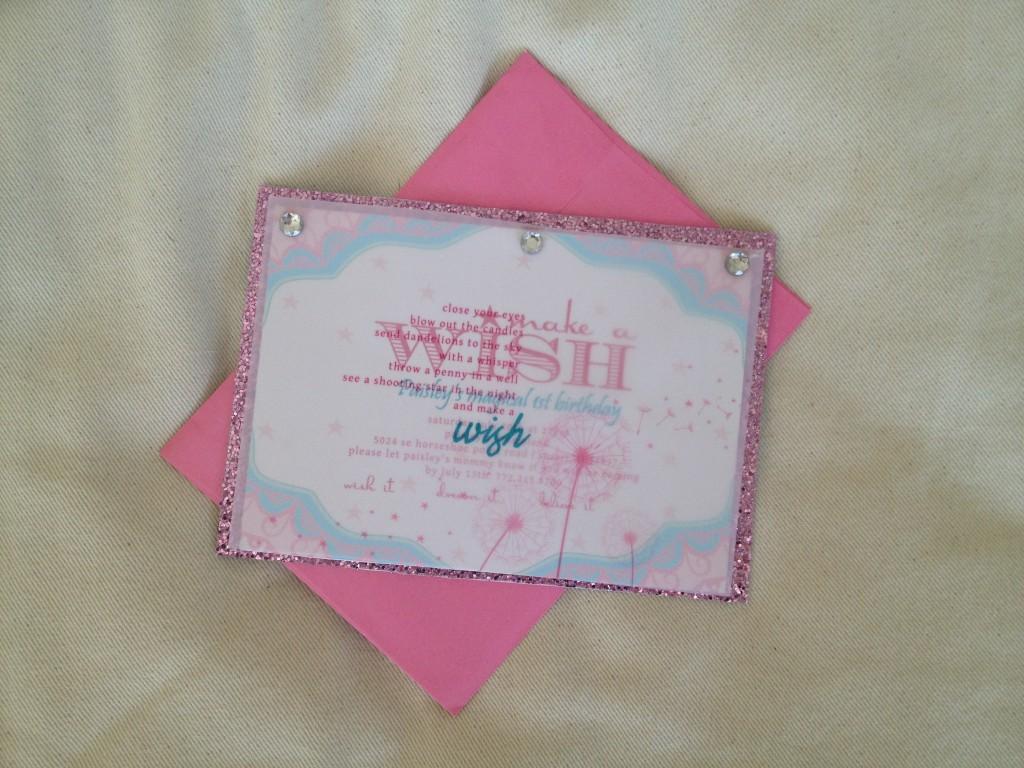 Make a Wish 1st Birthday Party Invite