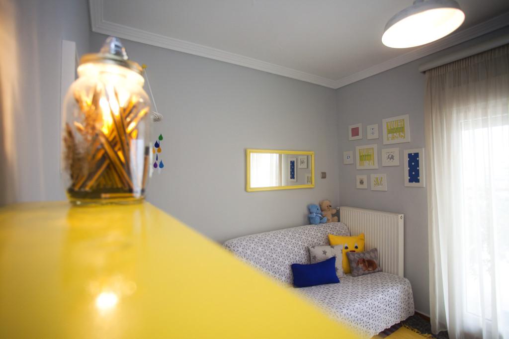 Boy Yellow and Gray Nursery