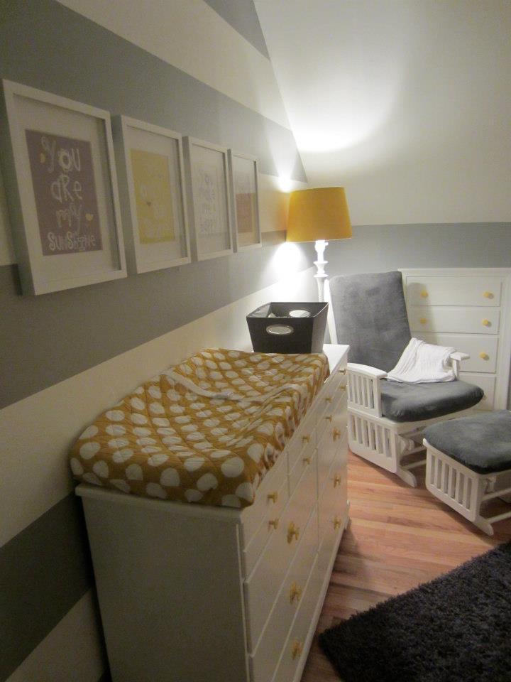 Grey, Yellow, Striped Nursery