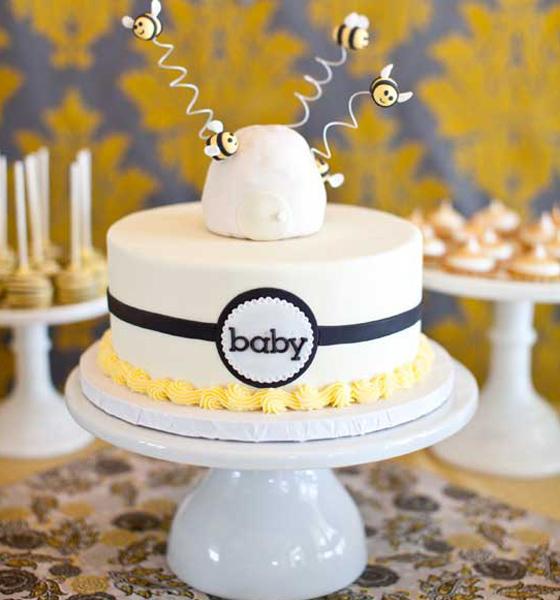 Bumble Bee Baby Cake