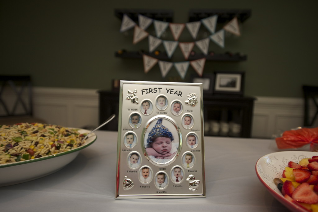 Pinwheel 1st Birthday Party Frame
