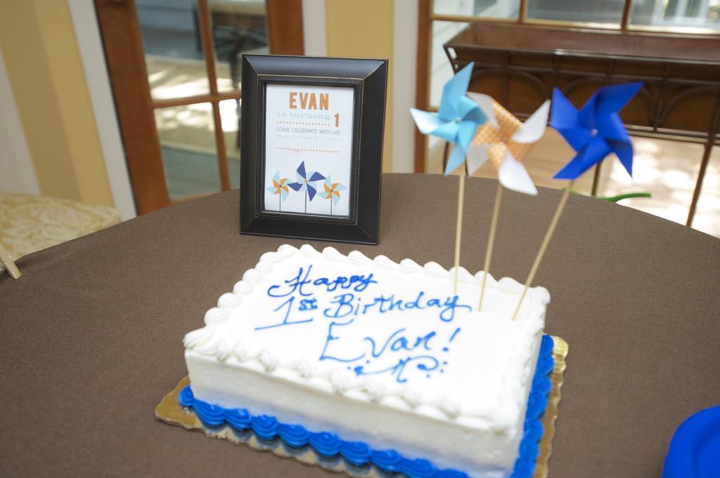 Pinwheel 1st Birthday Party Cake