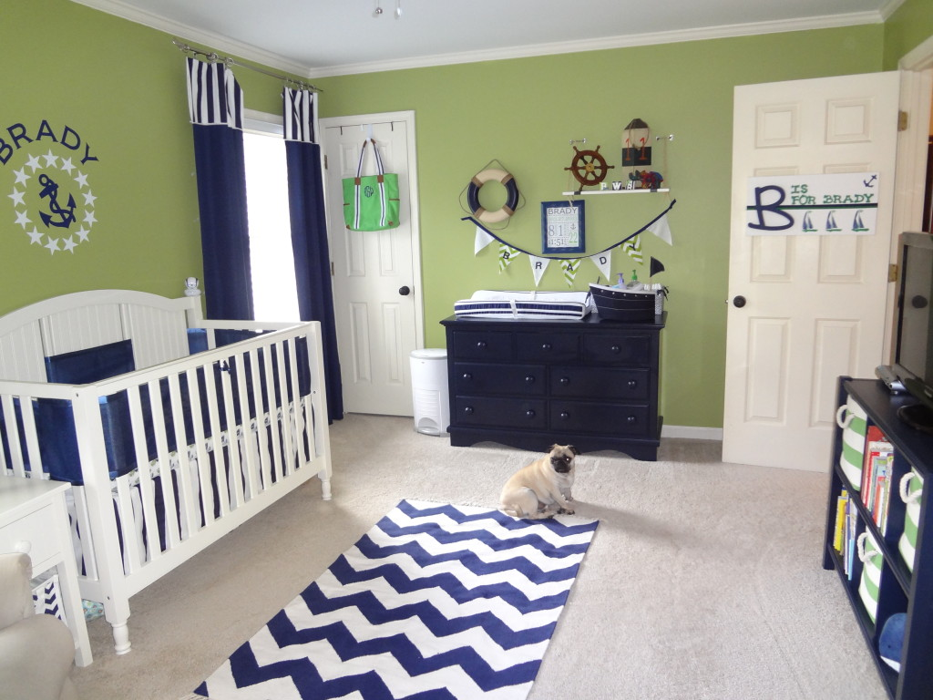 green and navy nautical nursery project nursery. Black Bedroom Furniture Sets. Home Design Ideas