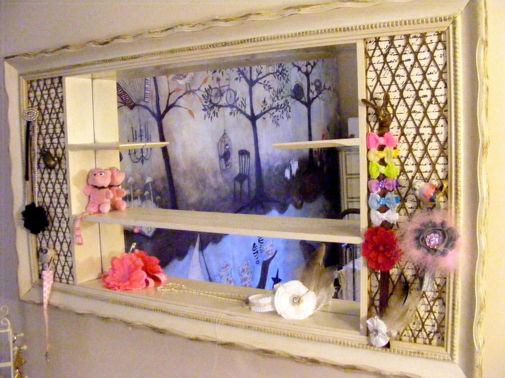 Girl Enchanted Forest Nursery Book Ledges