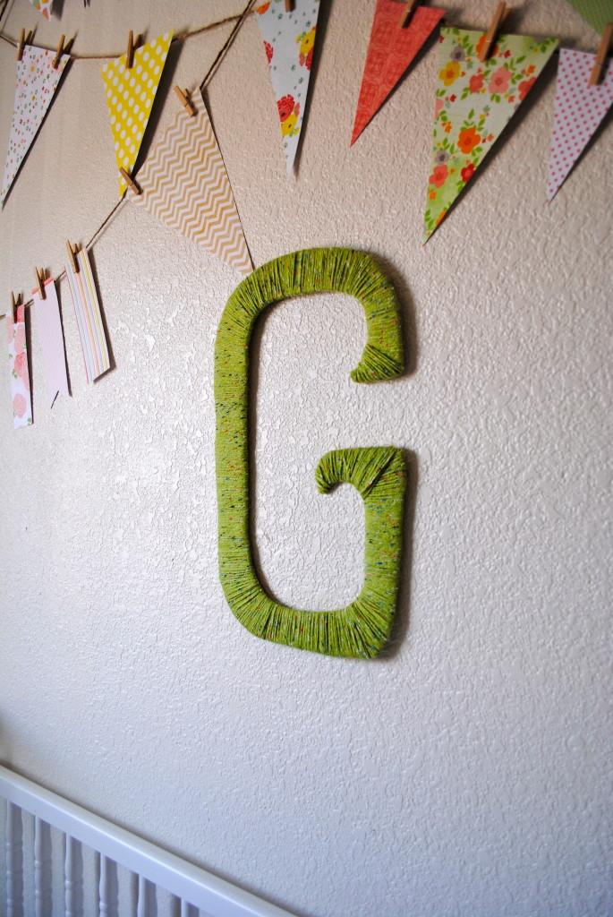 Girl Eclectic Nursery Monogrammed Wall
