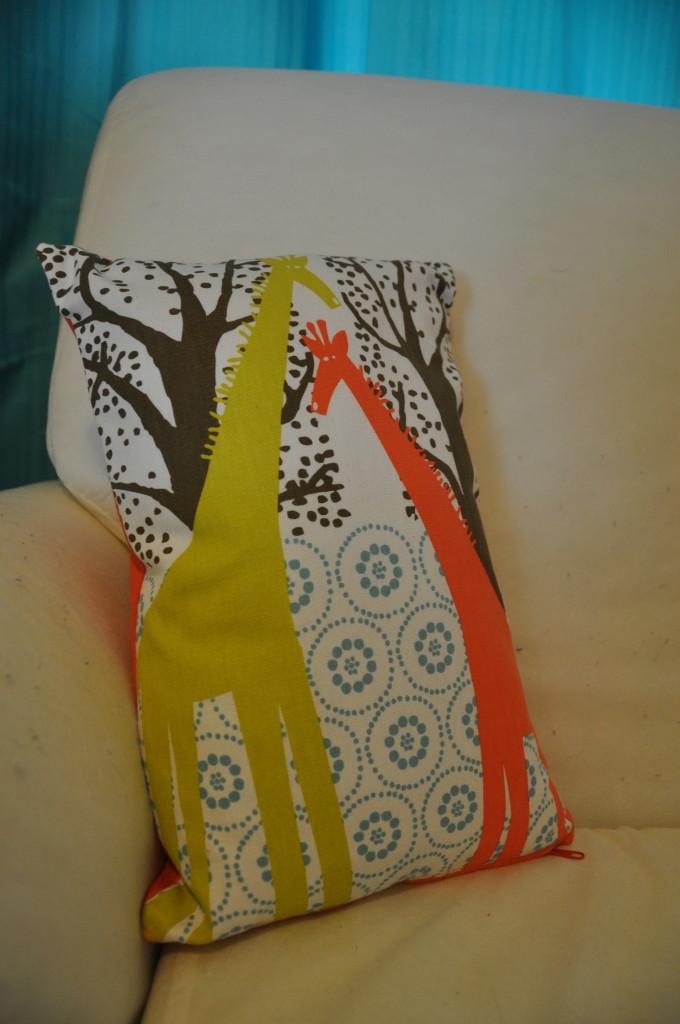 Gender-Neutral Nursery Giraffe Pillow