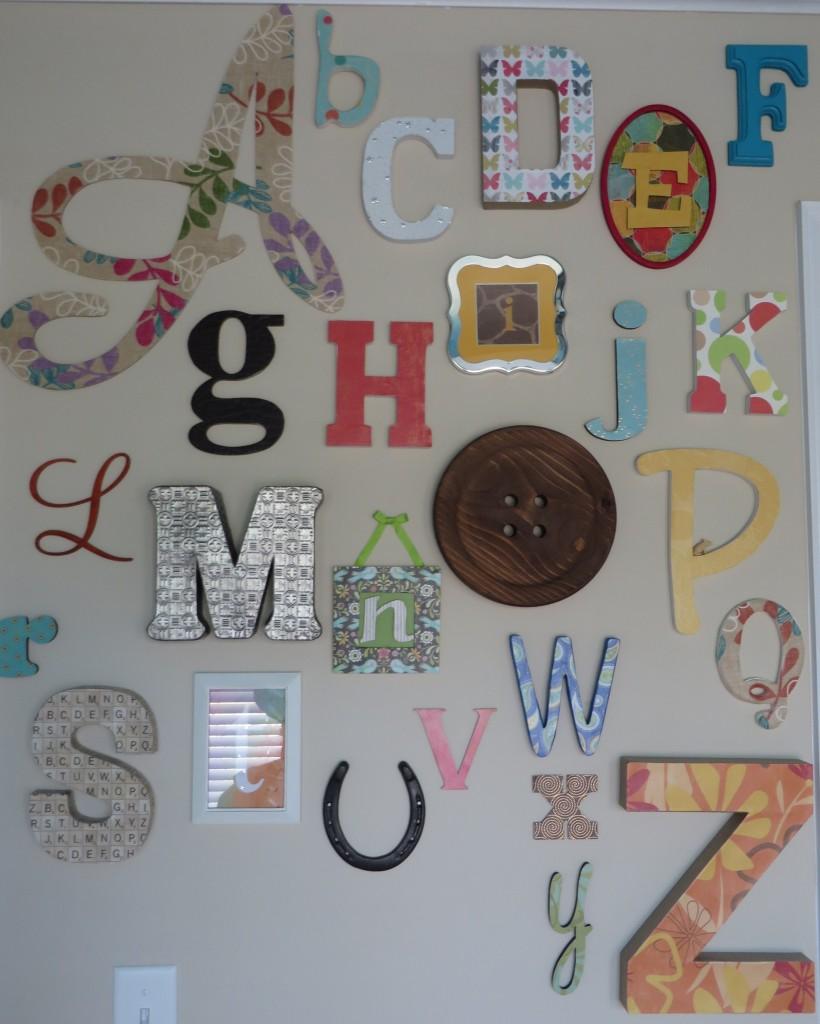 Turquoise, Teal Animal Nursery Alphabet Wall