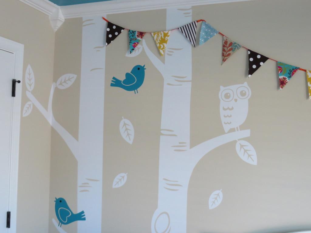 Turquoise, Teal Animal Nursery Banner Pennant