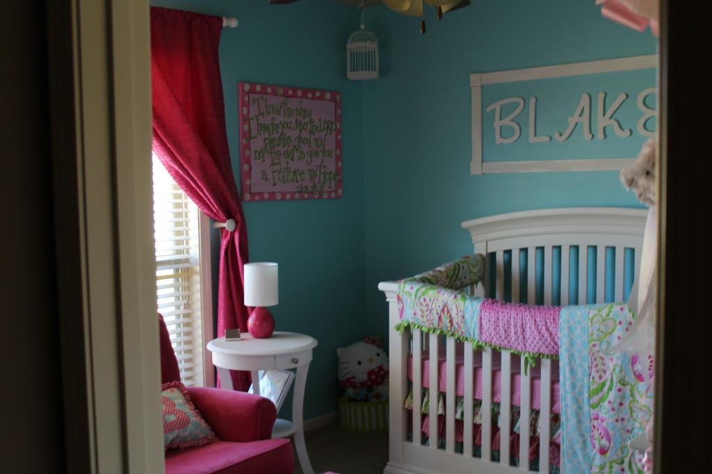 Girl Aqua and Pink Nursery