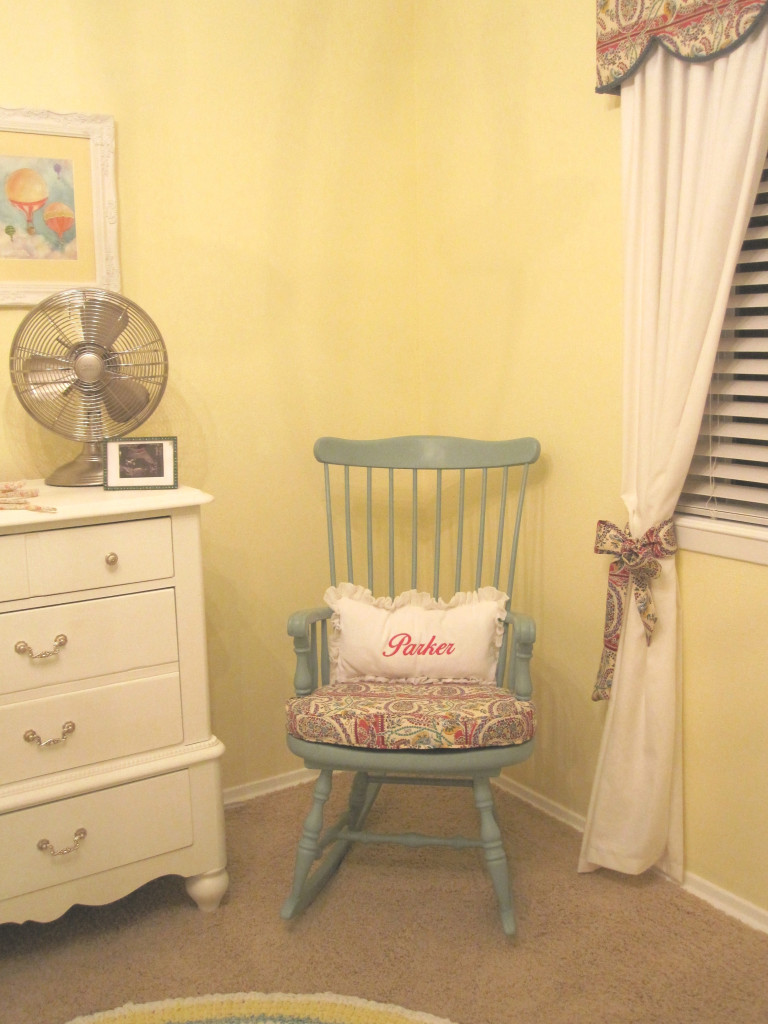 Hot Air Balloon Theme Nursery Rocking Chair