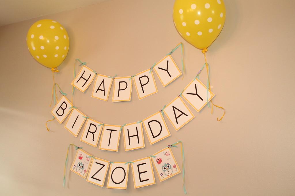 Owl Themed 2nd Birthday Party Birthday Banner