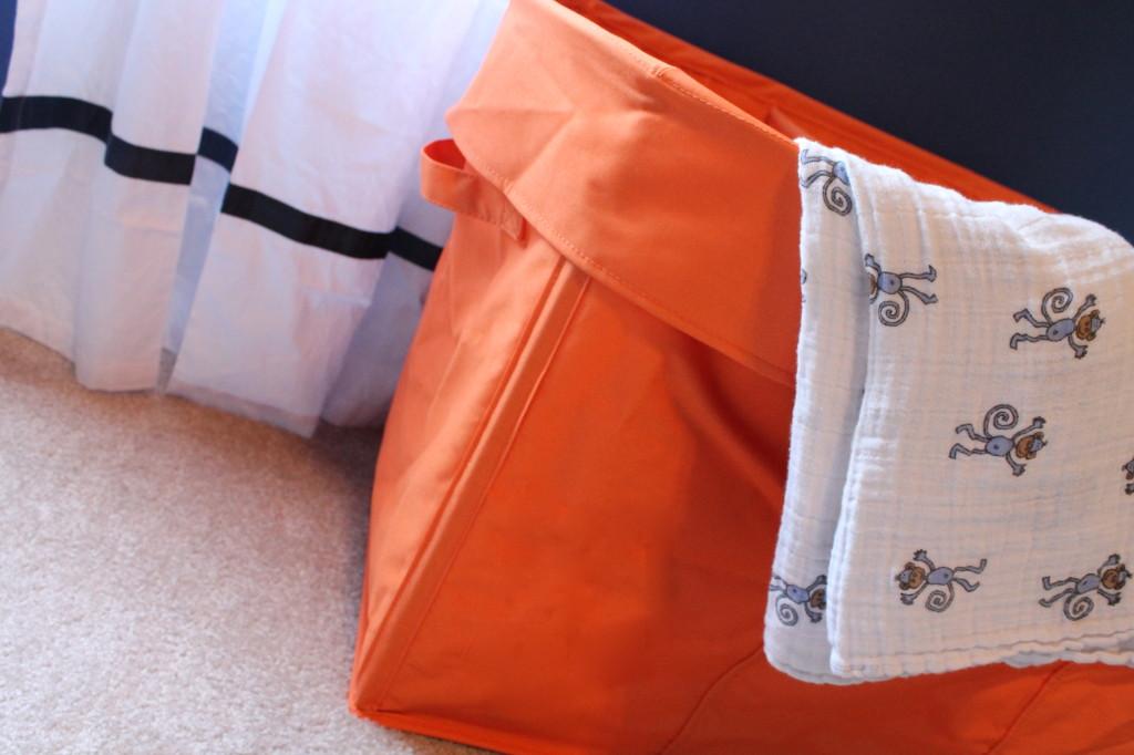 Dutch Baby Boy Nursery Orange Sorter
