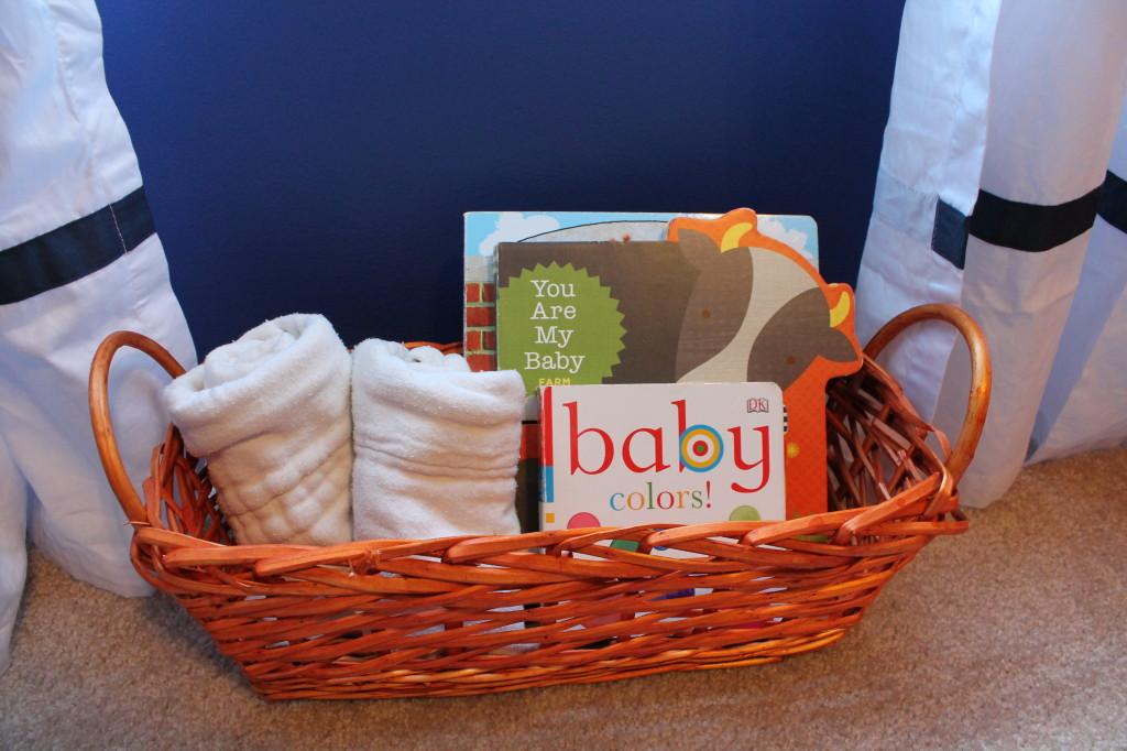Dutch Baby Boy Nursery Orange Basket