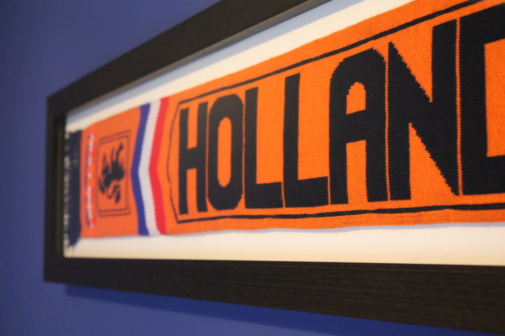 Framed Football Scarf