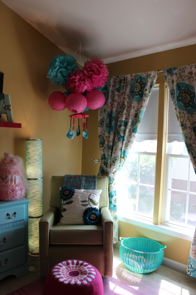 Teal and Pink Girl Nursery