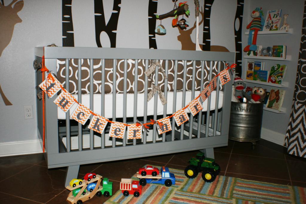 Woodlands Boy Nursery Crib View