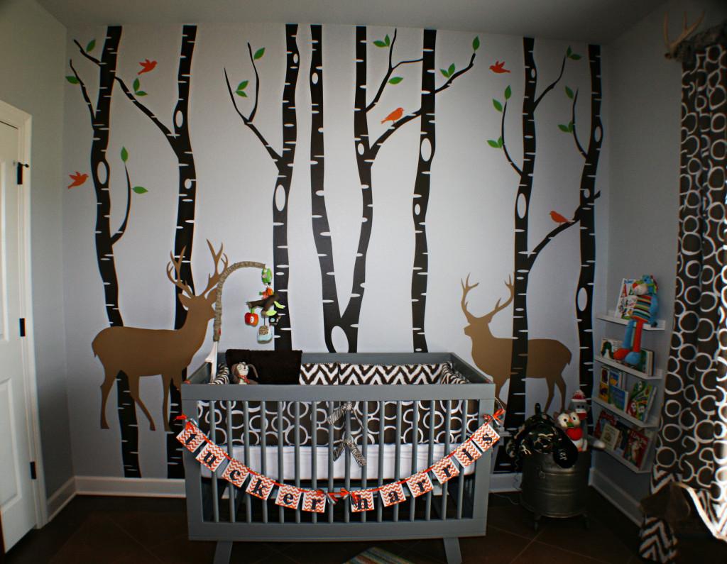 2 18 Woodlands Boy Nursery Crib View