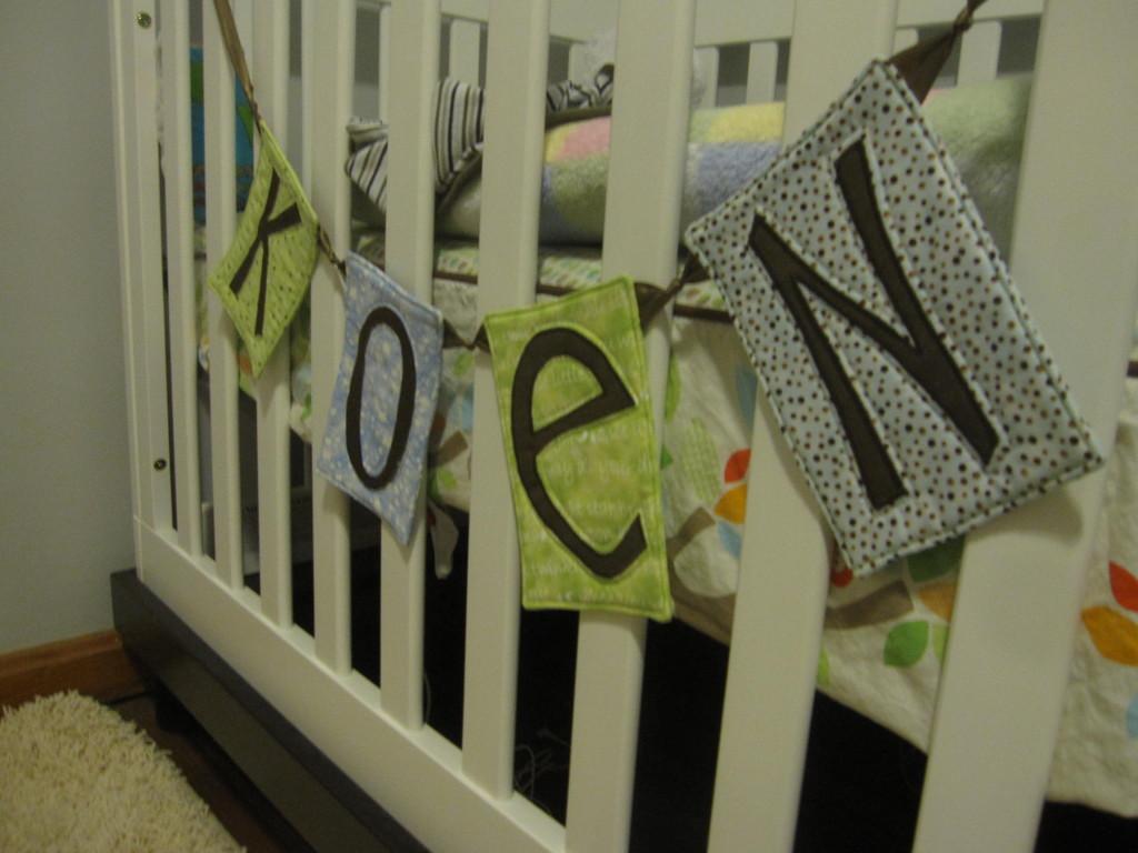 Gender-Neutral Nursery Crib View