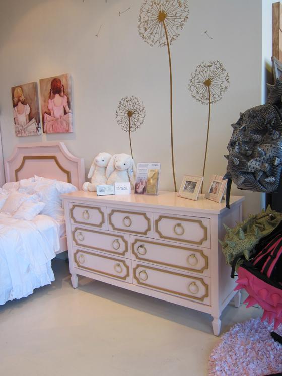 pink and gold hollywood regency dresser