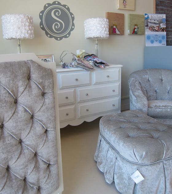 Upholstered Baby Crib