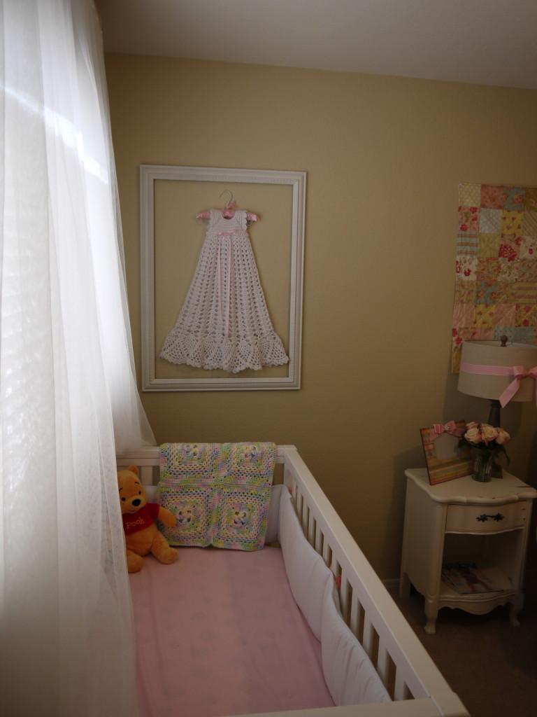 Baby Girl Shabby Chic Nursery Crib View