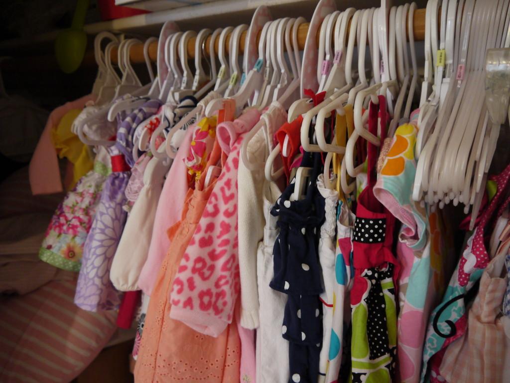Baby Girl Shabby Chic Nursery Closet View