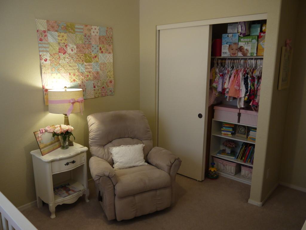 Baby Girl Shabby Chic Nursery Room View