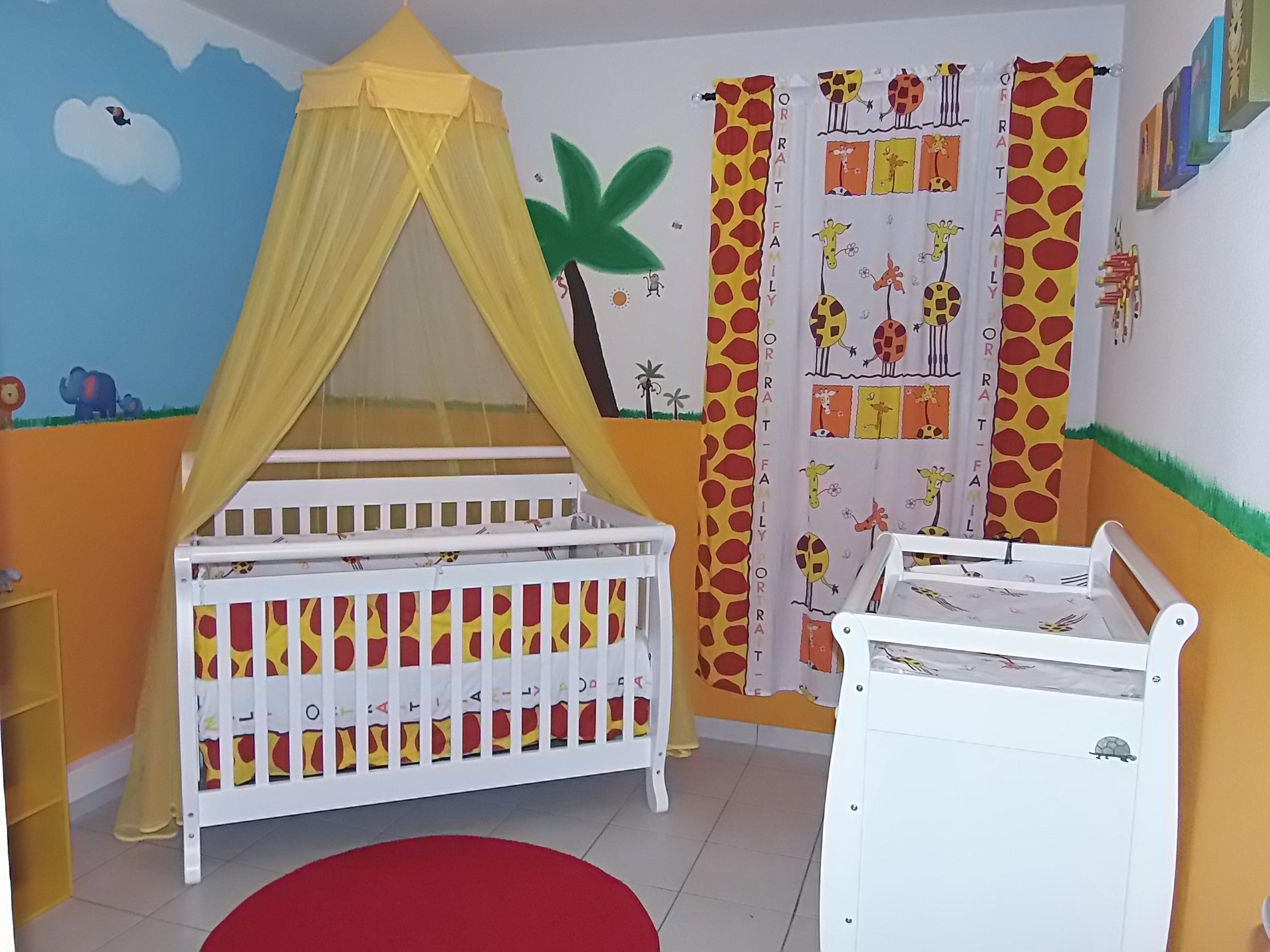 Animal Inspired Nursery Crib View