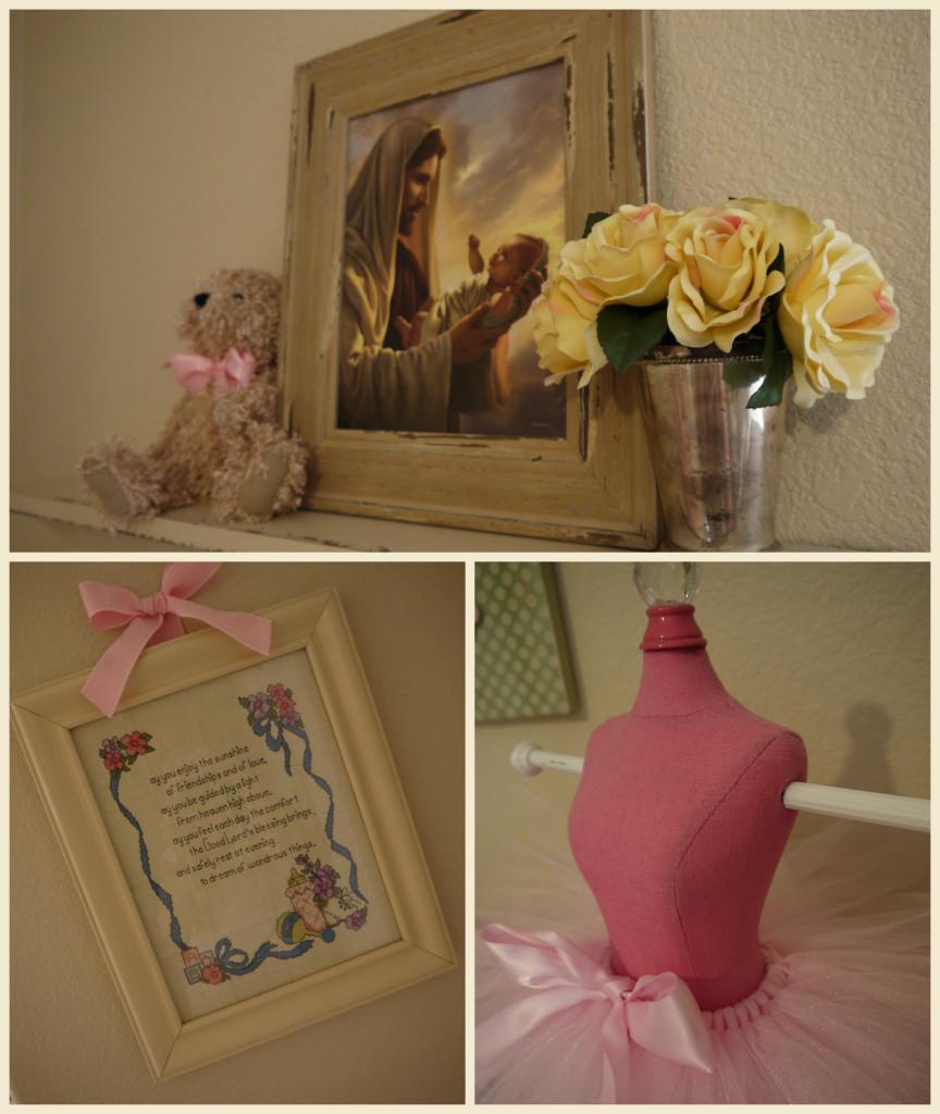 Baby Girl Shabby Chic Nursery Collage