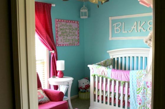 Pink and Aqua Nursery - Project Nursery