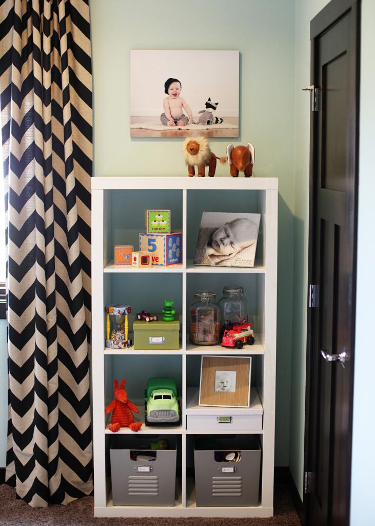 Rustic Modern Girl Nursery Bookcase