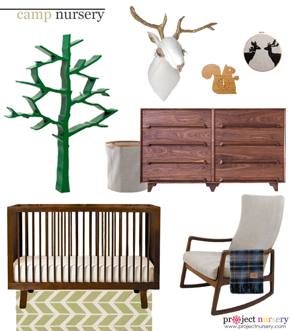 Camp Inspired Nursery Design Board - Project Nursery