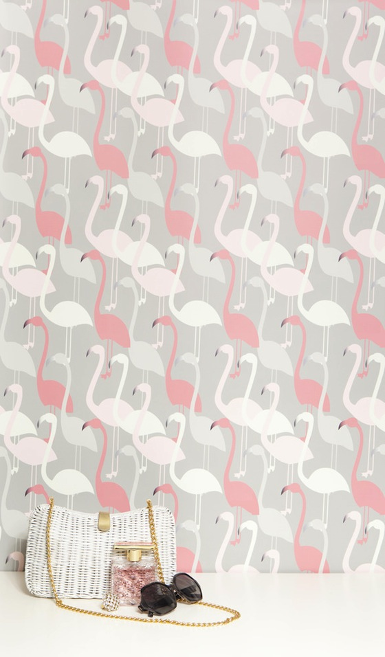 Kimberly Lewis Flamingo Wallpaper