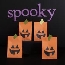 Paper bag pumpkin halloween decorations