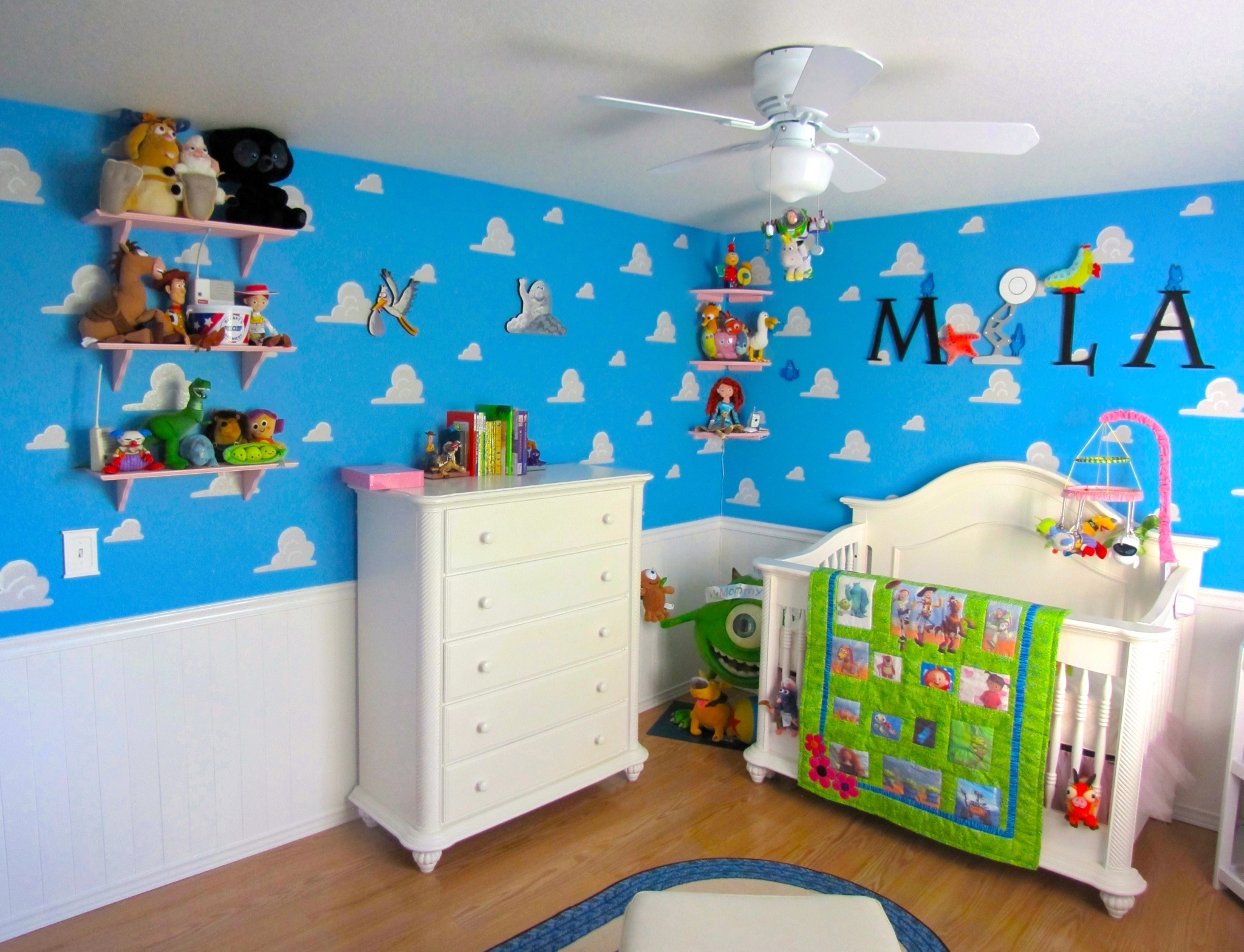 Pixar Themed Nursery Room View