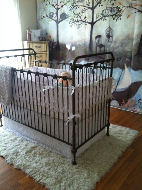 Girl Enchanted Forest Nursery Crib