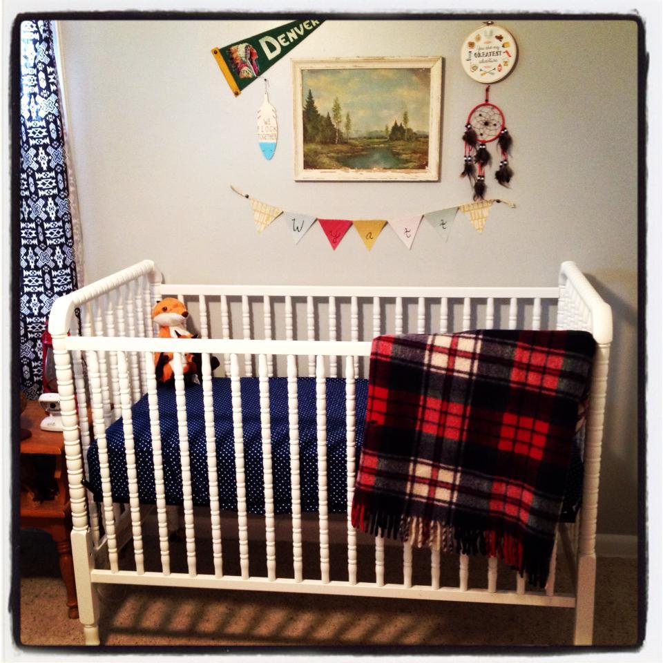 Vintage Camp Nursery Crib