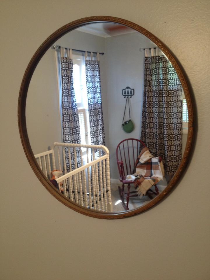 Vintage Camp Nursery Mirror