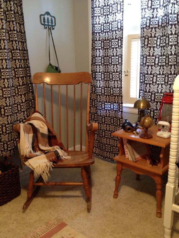 Vintage Camp Nursery Rocking Chair