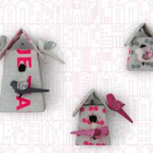 Birdhouse Wallpaper by SISSY + MARLEY for Jill Malek