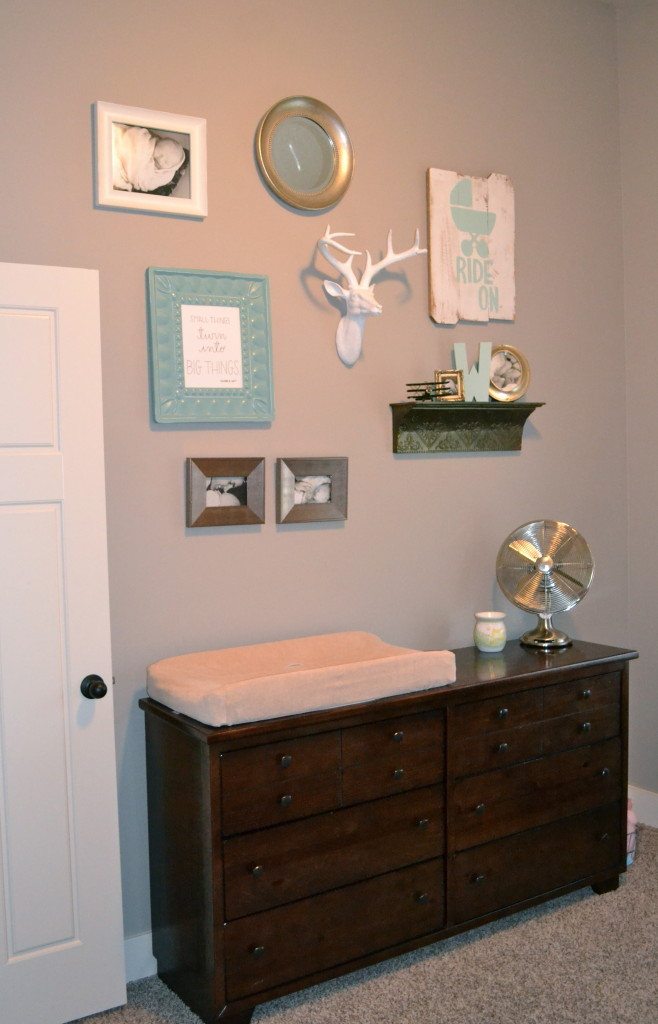 Boy LIght Blue and Gray Nursery Gallery Wall