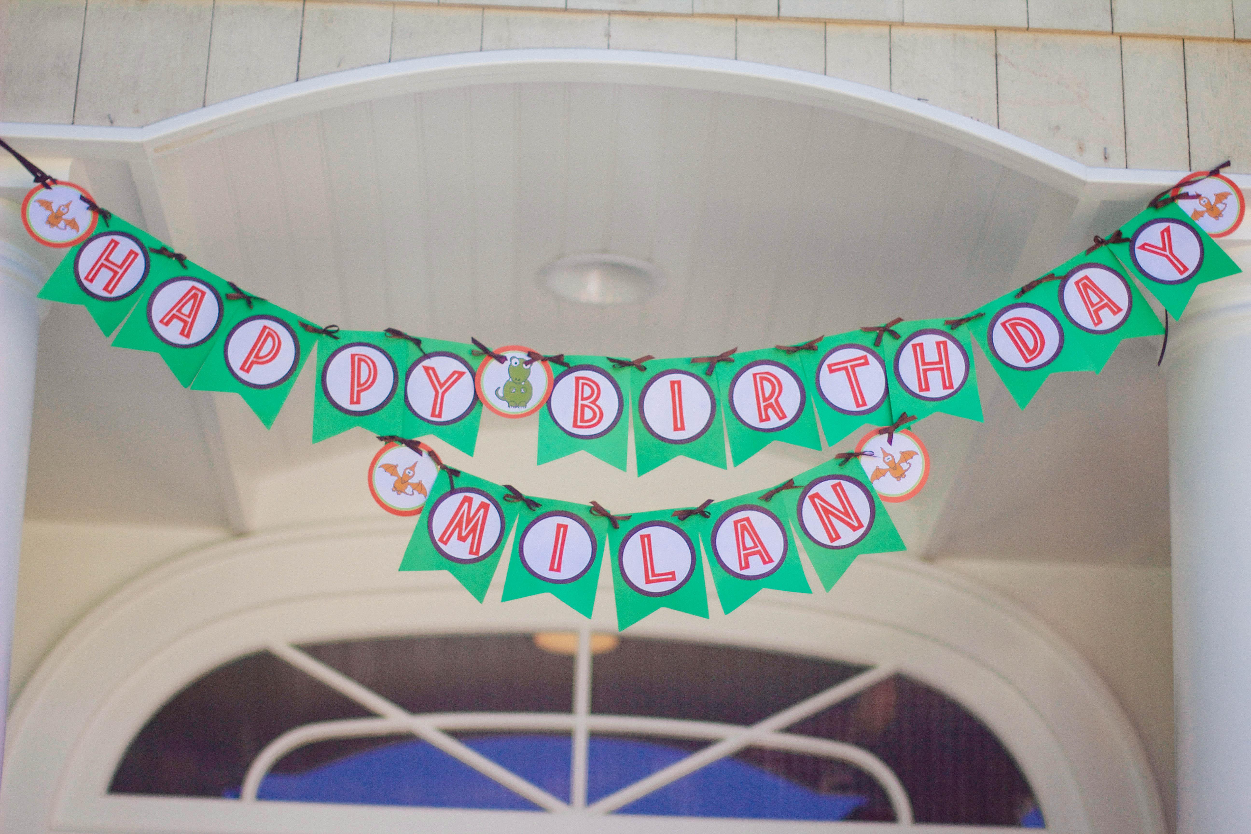 Dinosaur Party Banner