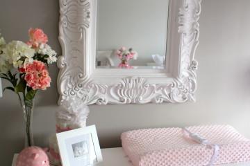 Vintage Mirror & Repainted Dresser